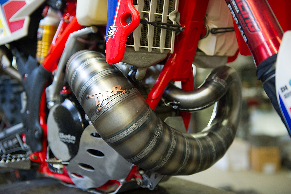 Beta 250cc exhaust system