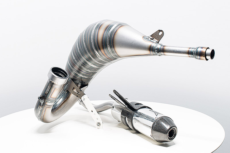 Yamaha 125 exhaust system and muffler